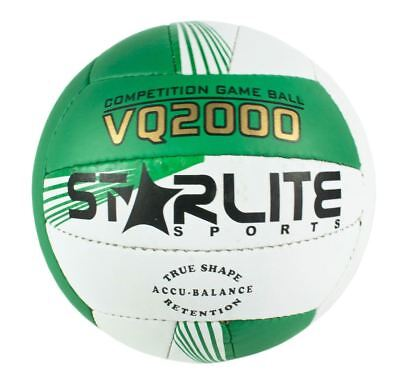 Starlite-Leather Match Beach Ball Volleyball Green 64cm For All Surfaces-Size 5