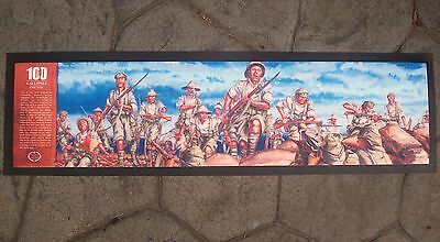 Charge At The Nek Centenary Bar Runner - Rubber Backed Mat New