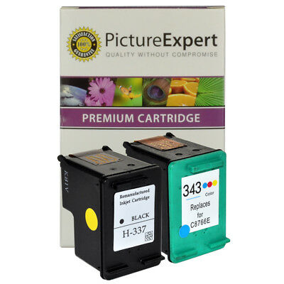Compatible HP 337 & 343 Black & Colour Ink Cartridges for Photosmart 2573 2575