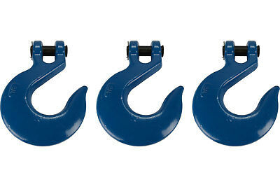 """3 Lot 3/4"""" Chain Slip Hook Clevis Rigging Tow Winch Trailer Grade 70"""