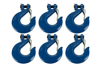 "6x 5/8"" Chain Slip Safety Latch Hook Clevis Rigging Tow Winch Trailer Grade 70"