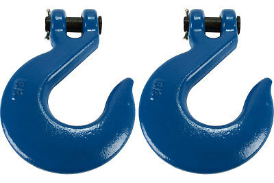 """2 Lot 5/8"""" Chain Slip Hook Clevis Rigging Tow Winch Trailer Grade 70"""