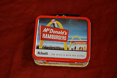 METAL MINIATURE LUNCH BOX * McDONALDS * VERY GOOD CONDITION