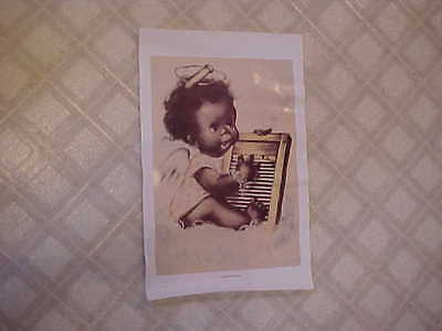 Vintage Black Americanna Repo Poster ~ Washboard Blues ~ 16¾ x 10⅞-inches