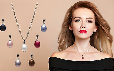 Seven Beautiful Genuine Freshwater Pearl Pendants & Necklace with Gift Box jedd
