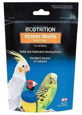 8 in 1 Ecotrition Oyster Shells Bone Care for Birds 10oz Bag ~ EXPIRE 10/16 ~