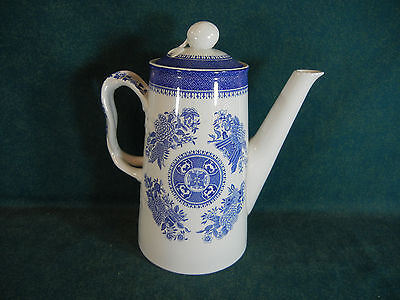 """Copeland Spode Blue Fitzhugh 8 1/2"""" Large Coffee Pot with Lid"""
