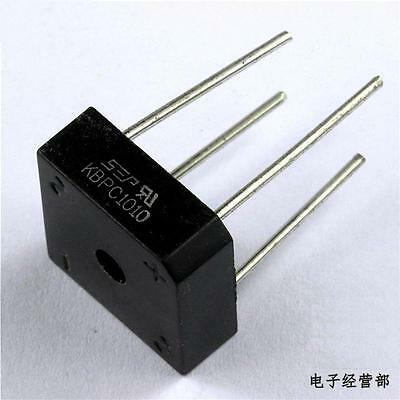 5PCS 10A 1000V Metal Case Bridge Rectifier SEP KBPC1010 NEW
