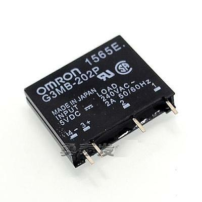 2pcs G3MB-202P-5VDC DC-AC PCB SSR In 5V DC Out 240V AC 2A Solid State Relay