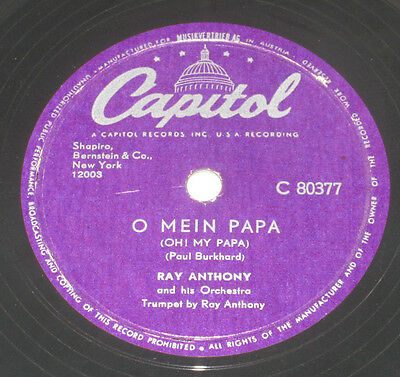 78rpm/Capitol 80377/RAY ANTHONY/ANOTHER DAWN/ANOTHER DAY/O MEIN PAPA