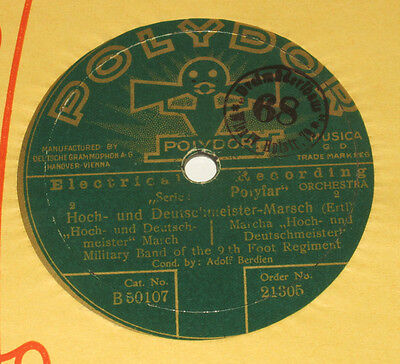 78rpm/21305/MILITARY BAND OF THE 9 FOOT REG/HOCH U. DEUTSCHMEISTERMARSCH/BERDIEN