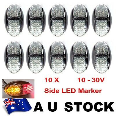 10X 12V 24V Amber + Red Clearance Light Side Marker Led Trailer Truck Au Stock