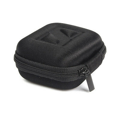 Black Headphones Case Earbud Carrying Storage Bag Pouch Hard Case For Earphone