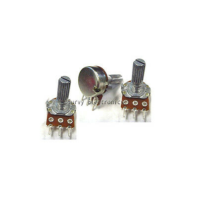 10 pcs 50K ohm Linear Taper Rotary Potentiometer Panel pot B50K 15mm