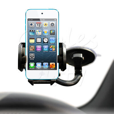 IN CAR WINDSCREEN SECURE MOUNT HOLDER CLIP FOR APPLE iPOD TOUCH 5 5G 5TH GEN