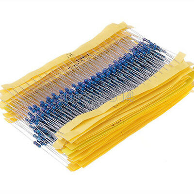 400pcs 1/4W Metal Film Resistor Assort kit 20 kinds value 1% New