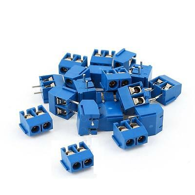 100PCS KF301-2P 2-Pin Plug-in Terminal Block Connector 5.08mm Pitch Through Hole