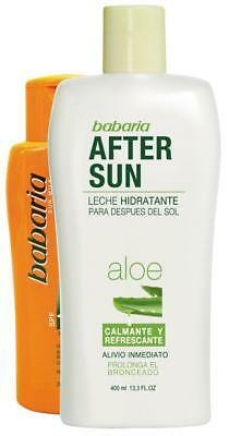 Babaria Aloe Vera After Sun Cream 400ml + free Carrot Tanning Milk SPF 4