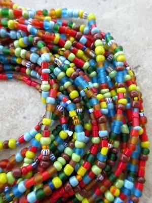 African Mixed Glass Beads -6 Strands [62771]