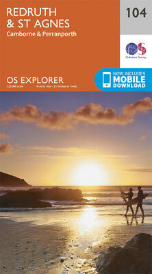 Redruth and St Agnes 104 Explorer Map Ordnance Survey With Digital Download