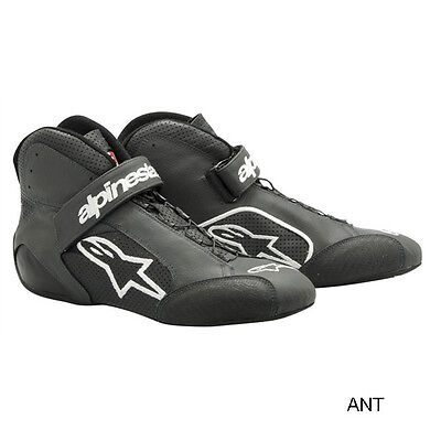 Alpinestars Tech 1-Z Racing Shoes, Grey/White, US Size 11