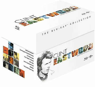 CLINT EASTWOOD Blu-Ray Collection BOX 8 BluRay Inglese e Italiano NEW .cp.