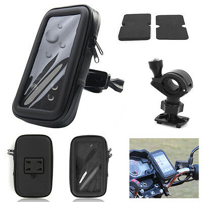 "New Motorbike motorcycle Bike GPS SAT NAV Case Bag Mount Holder Waterproof 5""/6"""