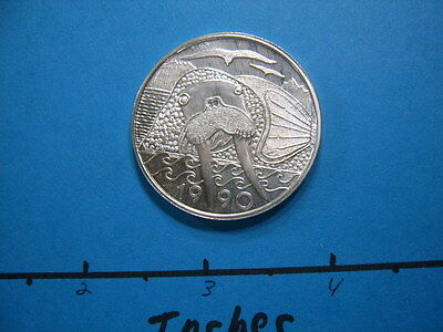 1990 Walrus Alaska Mint 999 Silver Coin Very Rare Type Item Not Many Around #3