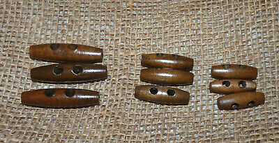 10/25/50  Wooden Toggle Buttons - Assorted Sizes & Colours- 15 - 60Mm #crafts