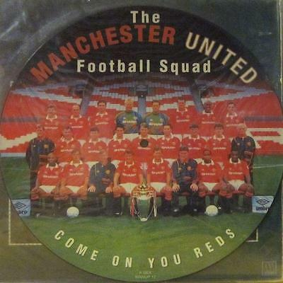 "Manchester United Football Squad(12"" Pic Vinyl)Come On You Reds---MANUP 12--VG/N"