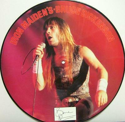 "Iron Maiden's Bruce Dickenson(12"" Vinyl Picture Disc)Interview Picture -Ex/Ex"
