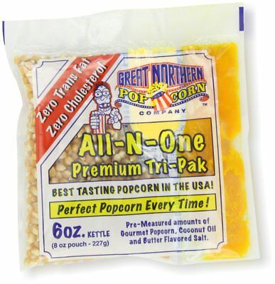 Great Northern Popcorn 24 Ct 6 Oz Pouches All in One Popcorn- Oil- Butter & Salt