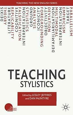 Teaching Stylistics by Lesley Jeffries (English) Paperback Book Free Shipping!