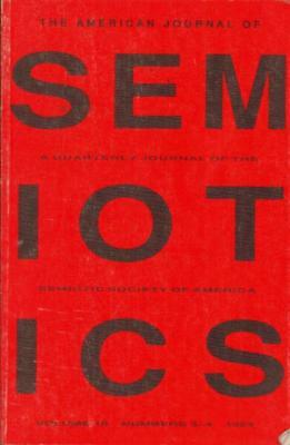 The American Journal Of Semiotics(Volume 10 Paperback Book)-Acceptable