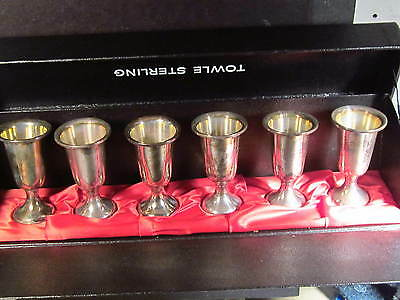 Towle Sterling SET OF 6 CORDIAL GLASSES IN BOX