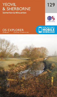 Yeovil and Sherbourne 129 Explorer Map Ordnance Survey With Digital Download