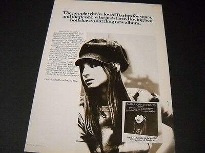 BARBRA STREISAND 1971 Promo Poster Ad for people who have loved her/loving her