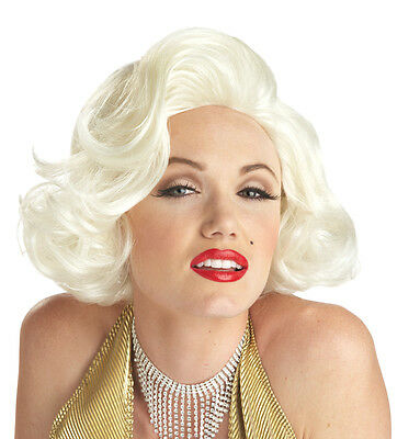Adult Short Wavy Blonde Blond Marilyn Monroe Costume Wig