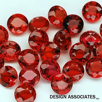 Ruby 4.00 Mm Round Cut Natural Gemstone  Aaa  2 Pc Set