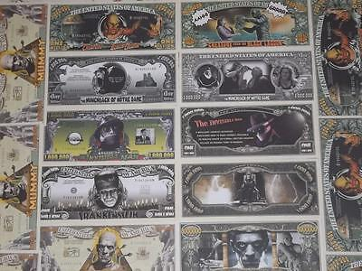2. Halloween Special 5 Classic Horror Movie U.s. Uncirculated Banknotes!