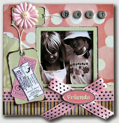 Scrapbook Best Friends Photo Album With Embellishments On Cover
