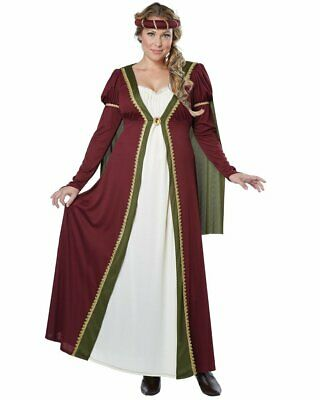 CL512 Medieval Maiden Renaissance Game Thornes Maid Marian Fancy Dress Costume