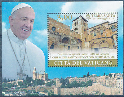 Israel / Vatican Joint Issue 2015  Church Of The Holy Sepulchre Vatican S/Sheet