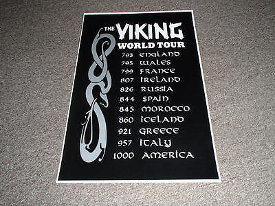 Scandinavian Swedish Danish Norwegian Viking World Tour Poster Print