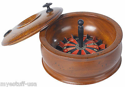 Roulette Game Replica of Wood Travel Roulette Game by Authentic Models GR025