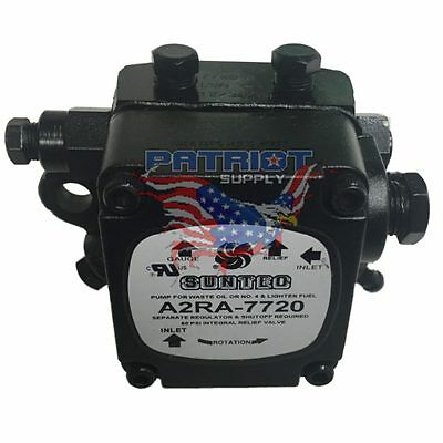 Suntec A2RA-7720 Waste Oil Pump 0.4-2.5 GPH 10/100 PSI 1725/3450 RPM