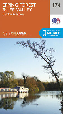 Epping Forest & Lee Valley 174 Explorer Map Ordnance Survey With Digital Downloa