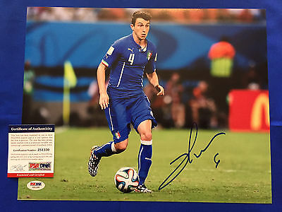 Matteo Darmian Signed 11x14 Photo Picture PSA/DNA COA Manchester United Italy