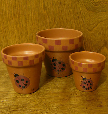 Boyds Accessories #654314 BAILEY'S LADYBUG CLAY POTS new from our Retail Store