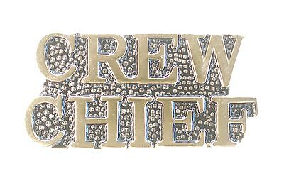 US USA Army Crew Chief Military Hat Lapel Pin